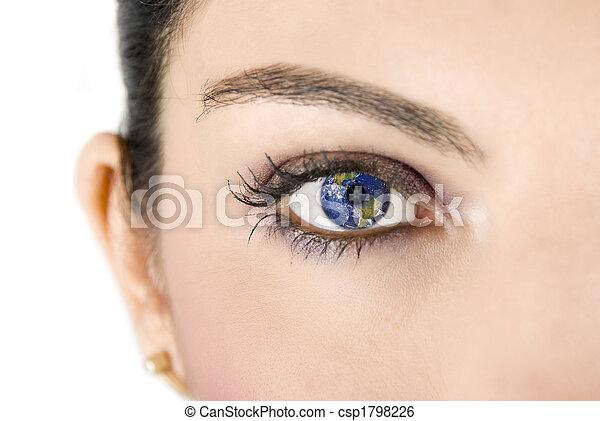 la terre, oeil - csp1798226
