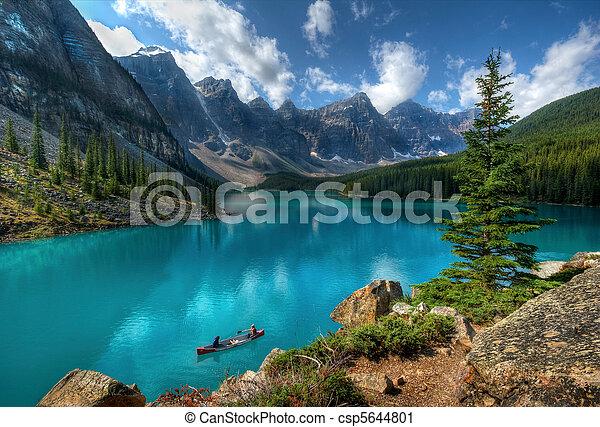 lac, parc, national, banff, moraine - csp5644801
