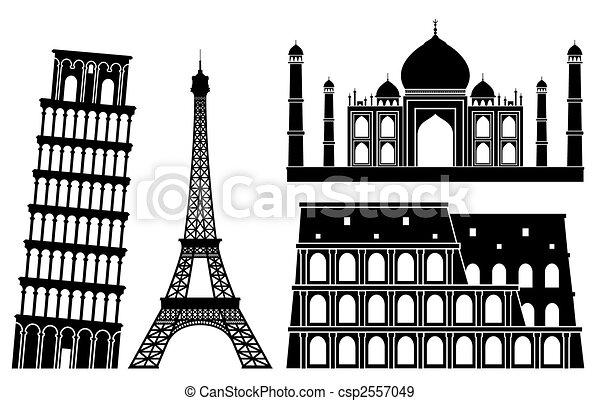 landmarks. - csp2557049