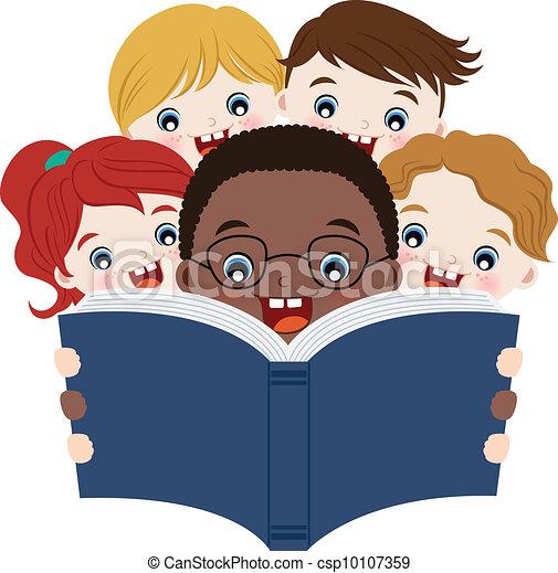 lecture, livres, enfants - csp10107359