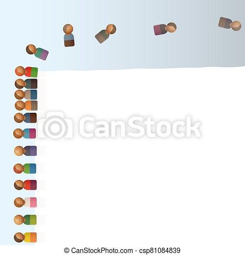 lemming, sauter, figures, fermé, aimer, jouet, falaise - csp81084839