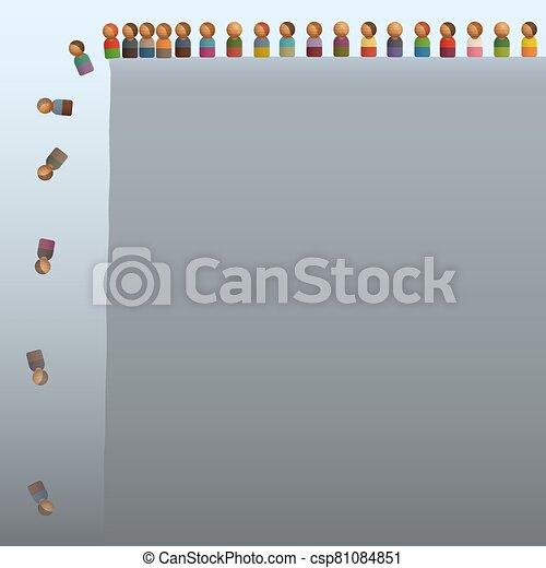 lemmings, sauter, figures, fermé, aimer, jouet, falaise - csp81084851