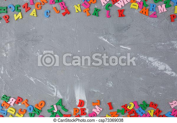 lettres, bois, anglaise, coloré, dispersé - csp73369038