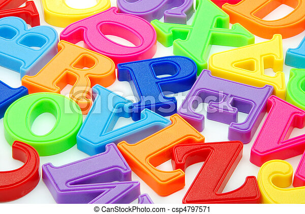 lettres, fond - csp4797571