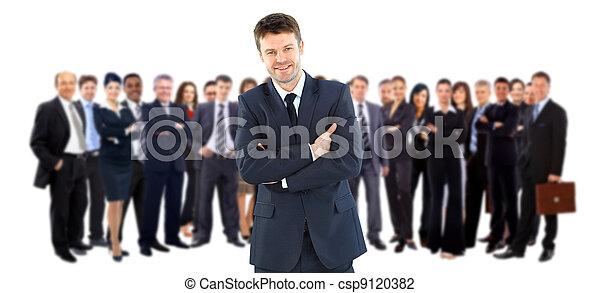 leur, éditorial, equipe affaires - csp9120382
