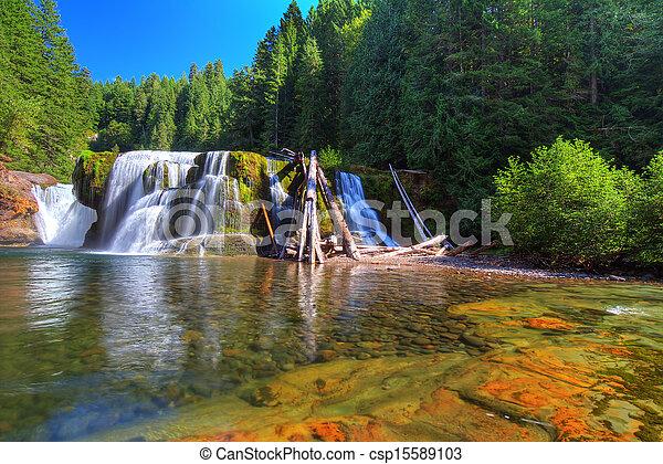 lewis, inférieur, rivière, chutes - csp15589103