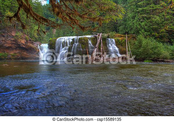 lewis, inférieur, rivière, chutes - csp15589135