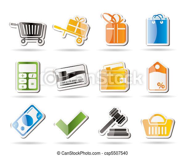 ligne, icônes, magasin - csp5507540