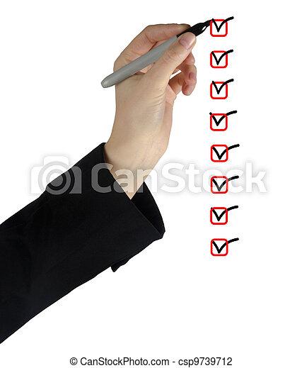 liste, chèque - csp9739712