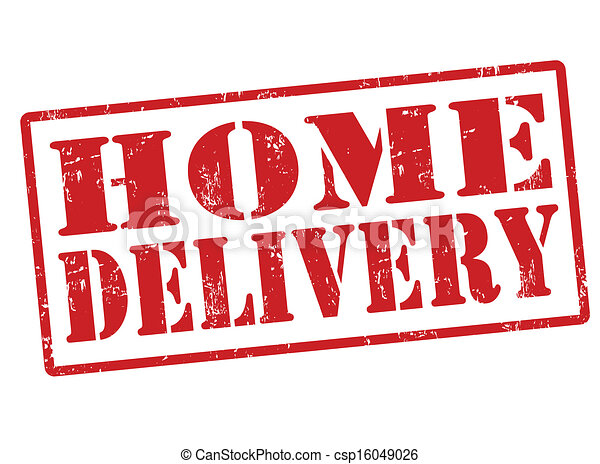 livraison, maison, timbre - csp16049026