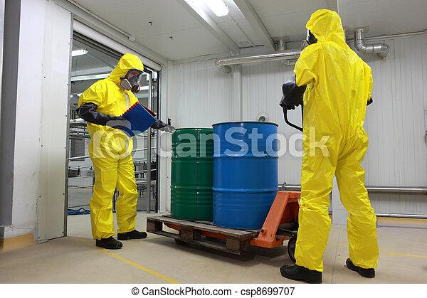 livraison, produits chimiques, barils - csp8699707
