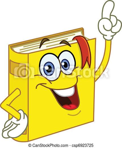 livre, dessin animé - csp6923725