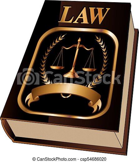 livre loi, cachet - csp54686020