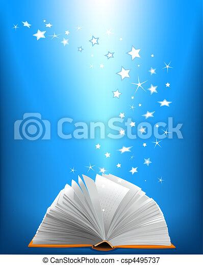 livre, magie, ouvert - csp4495737