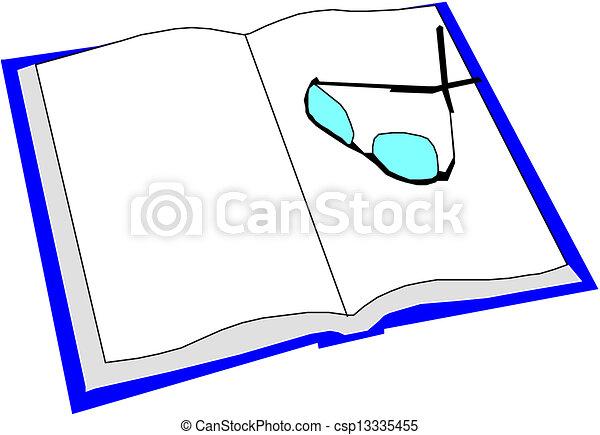 livre ouvert - csp13335455