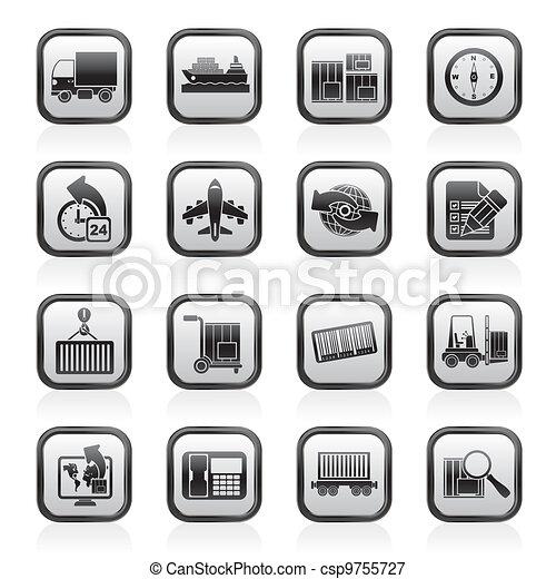 logistique, expédition, icônes - csp9755727