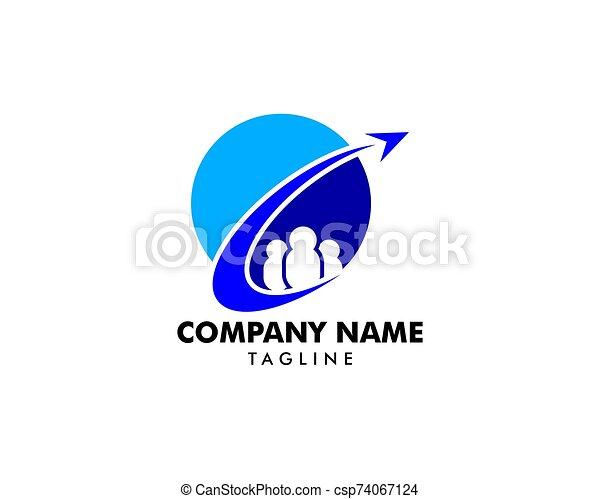 logo, élément, agence, conception, voyage, global - csp74067124