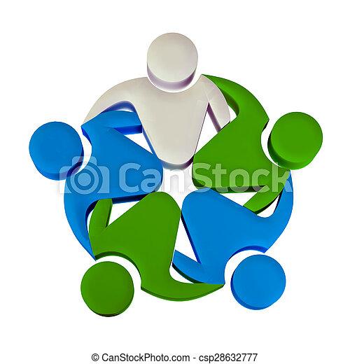 logo, collaboration, 3d, éditorial - csp28632777