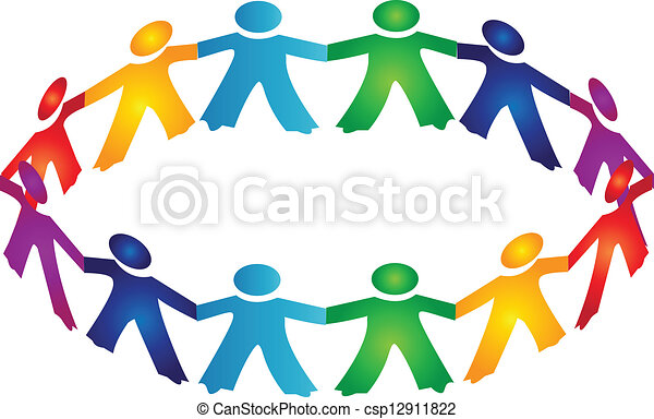 logo, collaboration, gens - csp12911822
