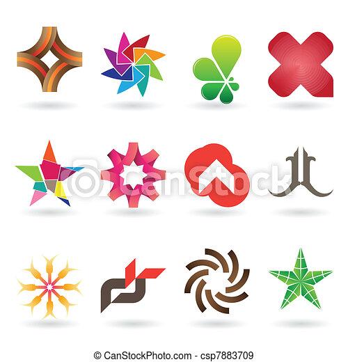 logo, contemporain, collection, icône - csp7883709