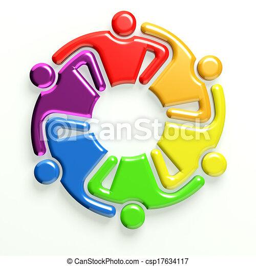 logo, icône, 3d, business - csp17634117