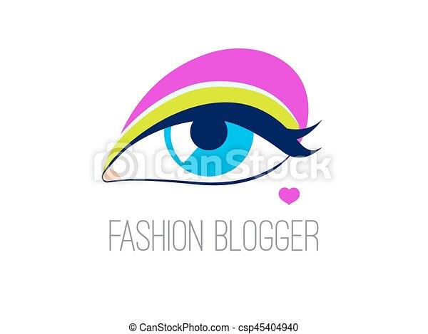 logo, mode, blogger - csp45404940
