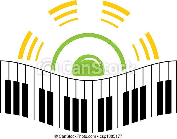 logo, musique - csp1385177