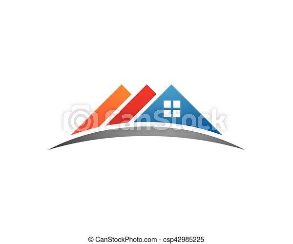 logo, propriété, gabarit - csp42985225