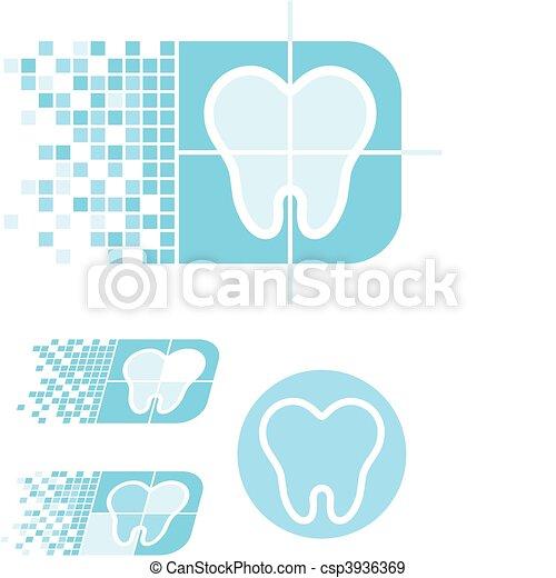 logo, soin dentaire - csp3936369