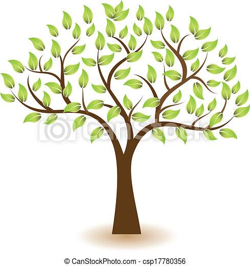 logo, symbole, vecteur, arbre - csp17780356