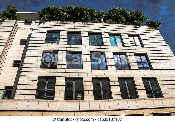 londres, bâtiment, matin, nouveau, beau, temps, central, extérieur - csp33187187