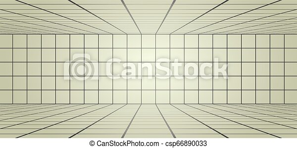 long, lignes, salle, illustration - csp66890033