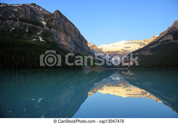 louise, parc national, lac, banff - csp13047476