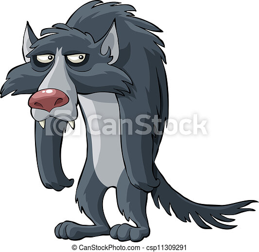 loup gris - csp11309291