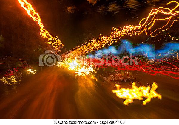 lumière, exposition, trafic, long, peinture - csp42904103