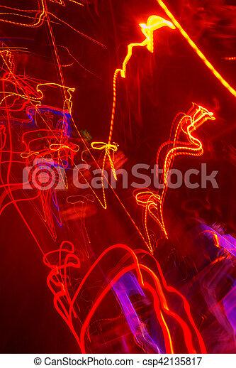 lumière, exposition, trafic, long, peinture - csp42135817