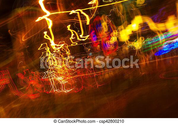 lumière, exposition, trafic, long, peinture - csp42800210