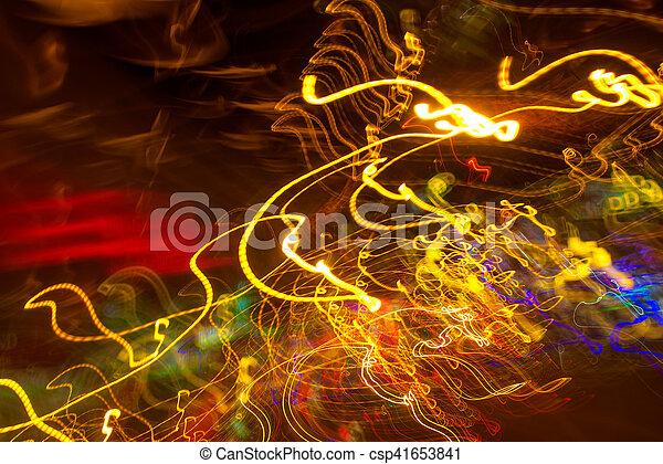 lumière, exposition, trafic, long, peinture - csp41653841