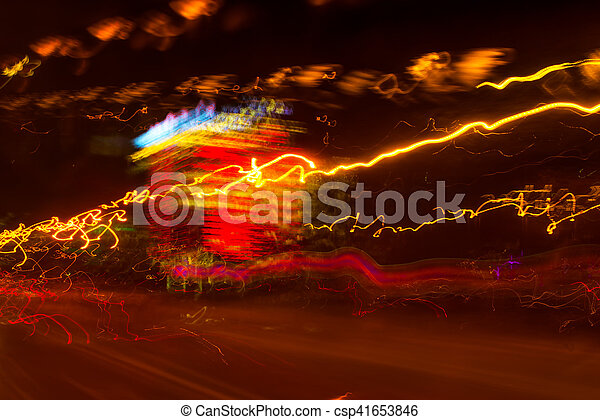 lumière, exposition, trafic, long, peinture - csp41653846