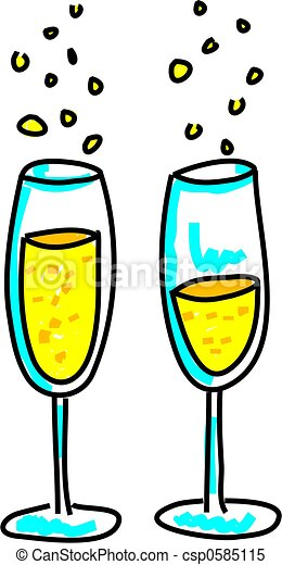 lunettes champagne - csp0585115