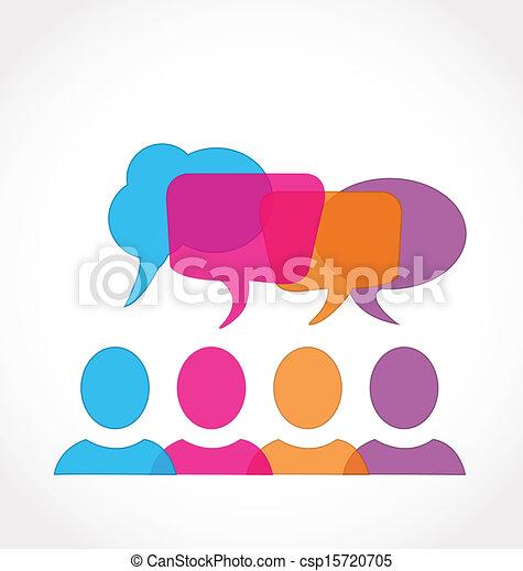 média, bulles, parole, réseau, social - csp15720705