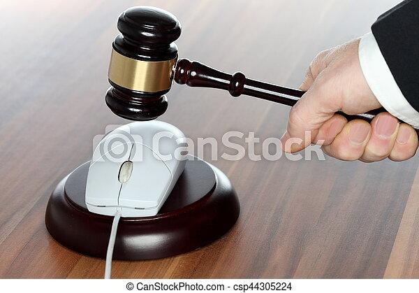 média, droit & loi, symbolique - csp44305224