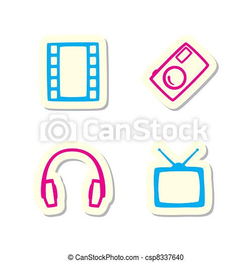 média, icônes - csp8337640
