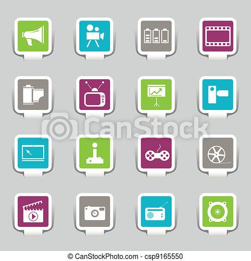 média, icônes - csp9165550
