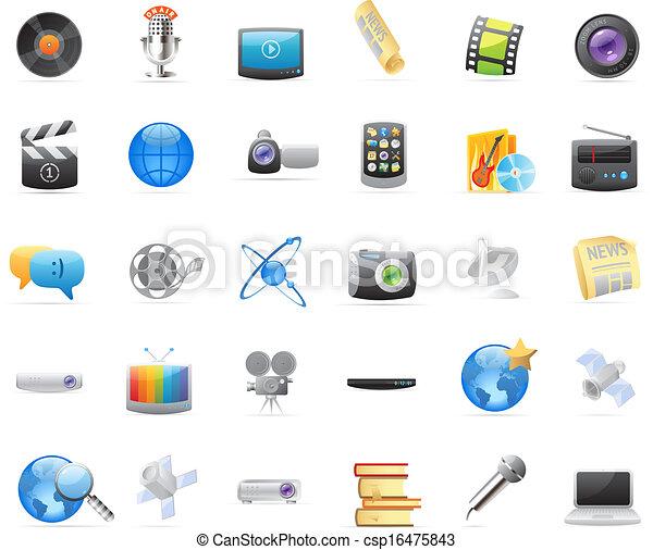 média, icônes - csp16475843