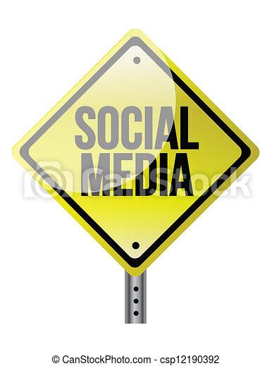 média, social, signe - csp12190392