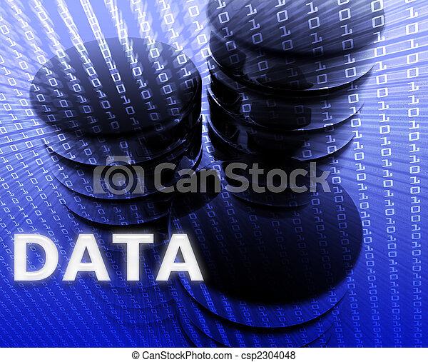 mémorisation des données, illustration - csp2304048
