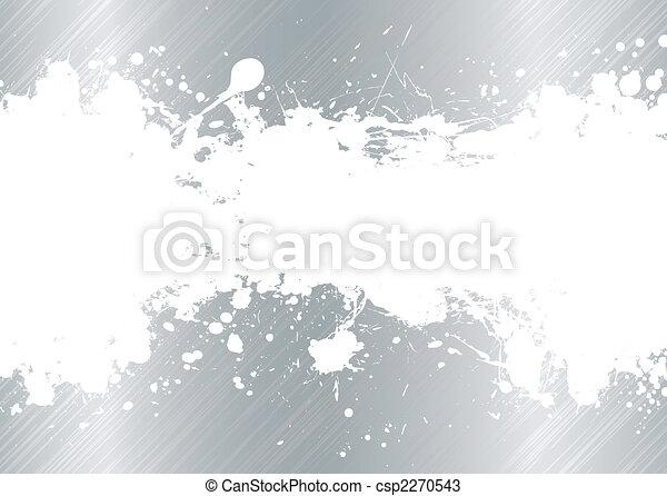 métal brossé, splat, encre - csp2270543