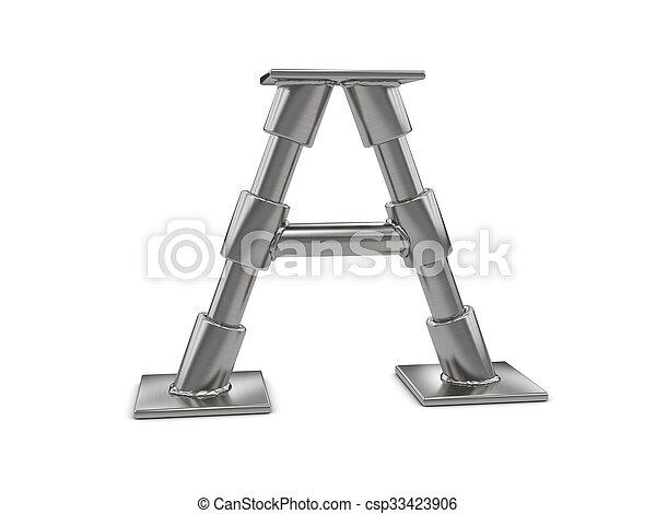 métal, lettre - csp33423906