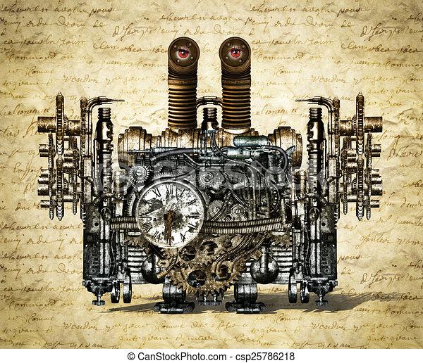 machine, nostalgique, temps - csp25786218